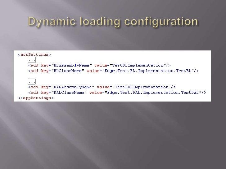 Dynamic loading configuration<br />
