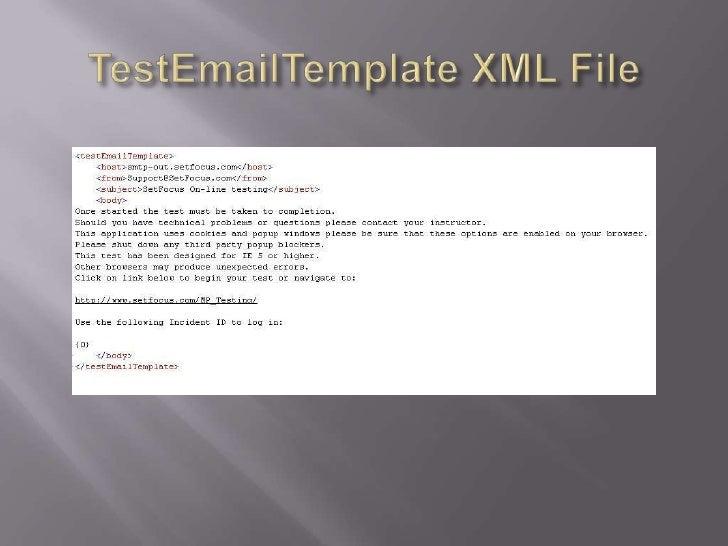 TestEmailTemplate XML File<br />