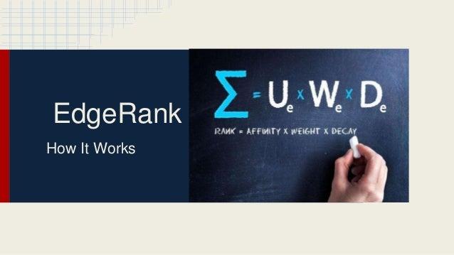 EdgeRank How It Works
