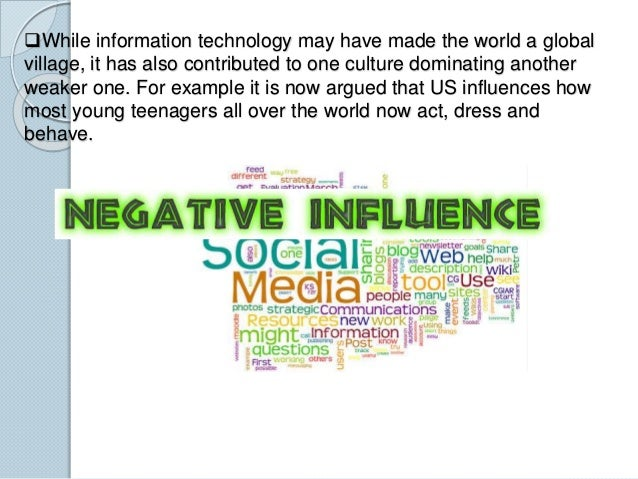 influence of technology in society