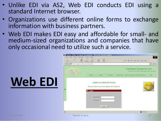 the adoption of electronic data interchange This study empirically examines determinants of electronic data interchange (edi) adoption the research model for this study was developed based on factors that influence edi adoption including technological factors (benefits, costs, risks, security, complexity), organisational factors (size, top management support, it capability.