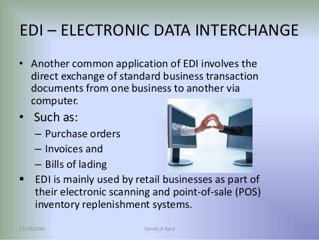 Electronic Data Exchange : Electronic data interchange
