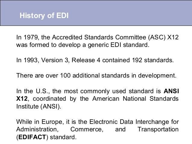 Introduction To Edi What Is Edi Edi History Edi Benefits Ppt