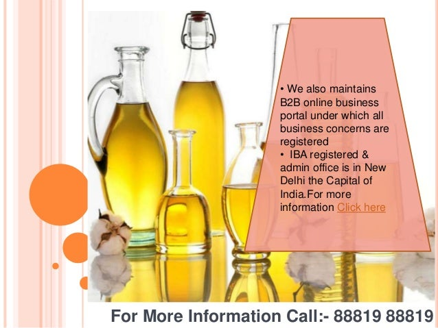 Edible oil supplier