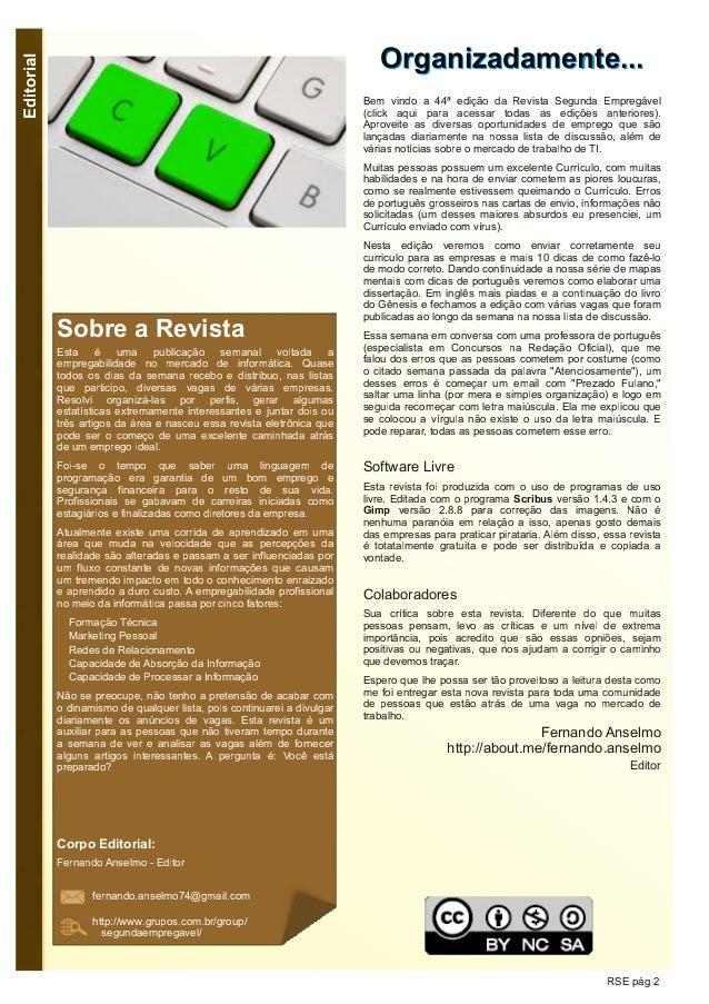 Segunda Empregável - Edição 44 Slide 2