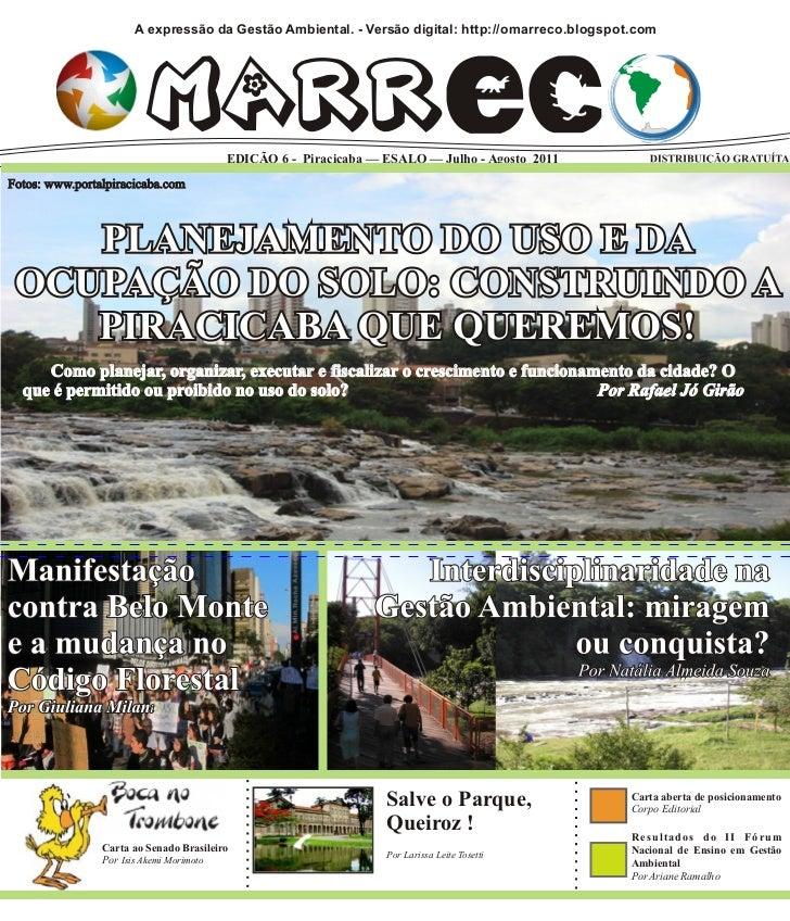 O Marreco - A expressão da Gestão Ambiental - Edição Julho-Agosto 2011