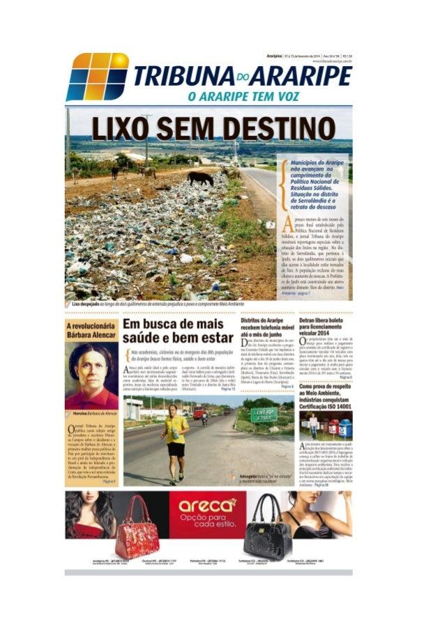 Edição 84 do Jornal Tribuna do Araripe