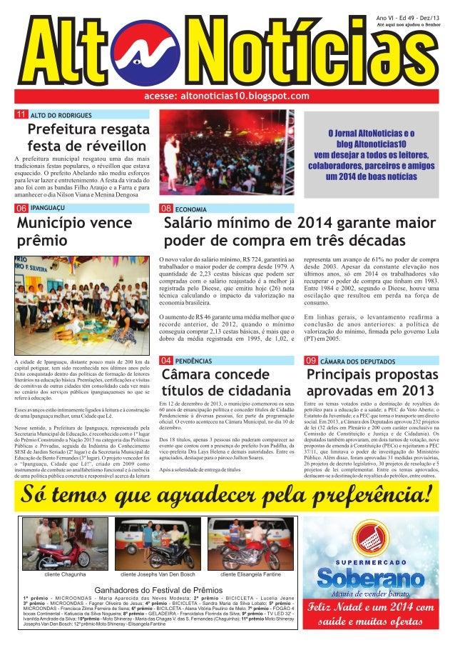 Jornal AltoNoticias edição dezembro/2013