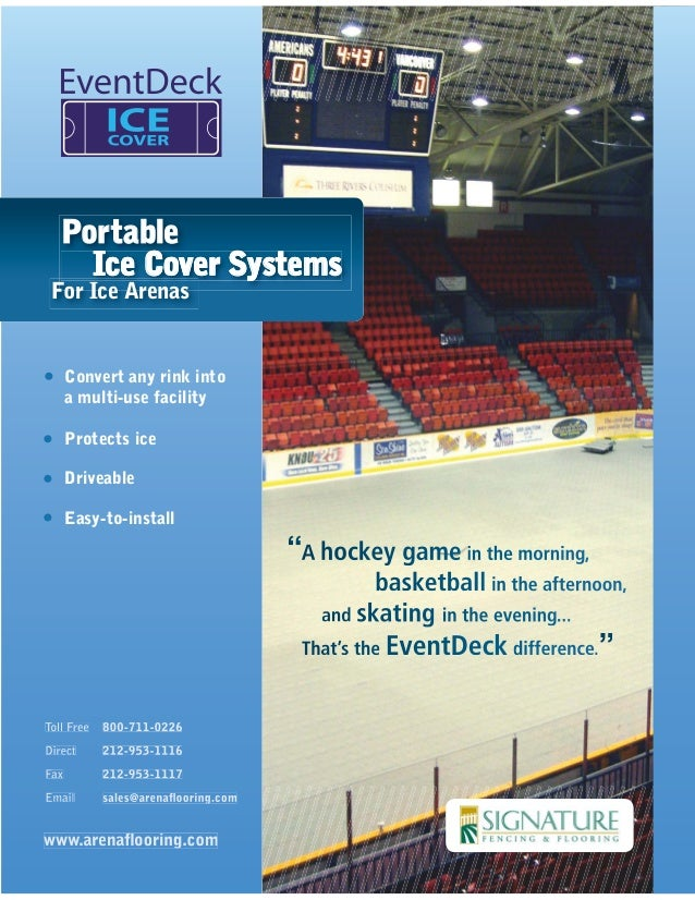 Convert any rink into a multi-use facility Protects ice Driveable Easy-to-install PortablePortable Ice Cover Systems For I...