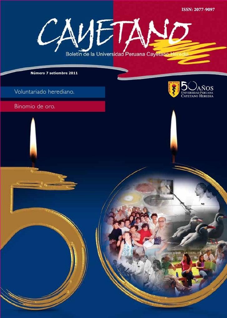 ISSN: 2077-9097      Número 7 setiembre 2011Voluntariado herediano.Binomio de oro.