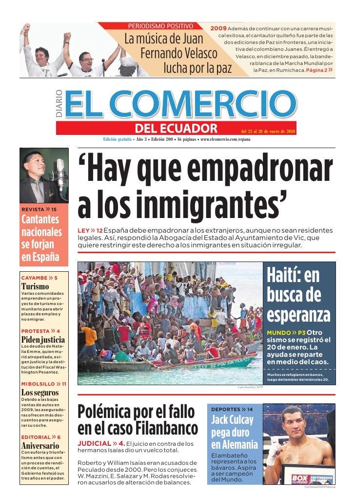 www.elcomercio.com/espana                                             Semana del viernes 22 al jueves 28 de enero de 2010 ...