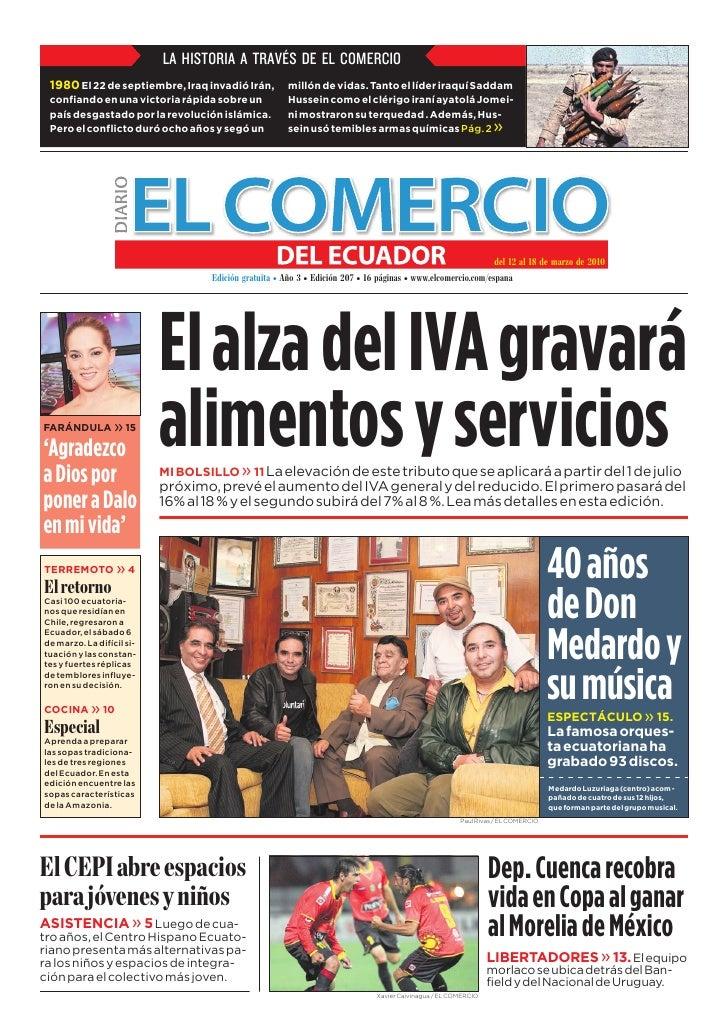 www.elcomercio.com/espana                                              Semana del viernes 12 al jueves 18 de marzo de 2010...