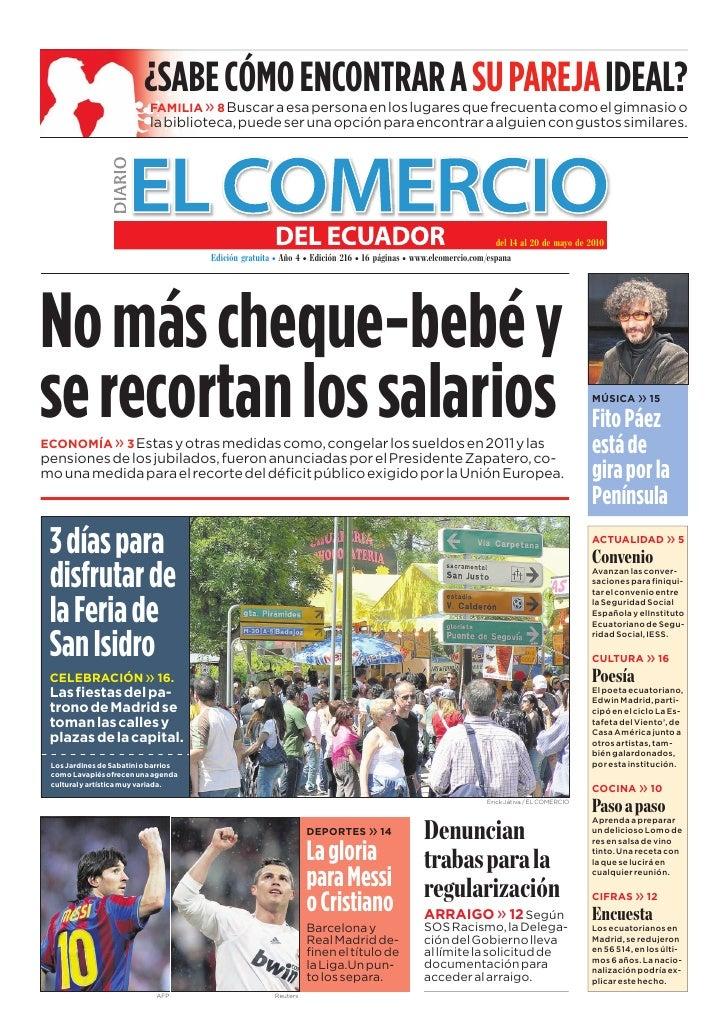 www.elcomercio.com/espana                                                 Semana del viernes 14 al jueves 20 de mayo de 20...