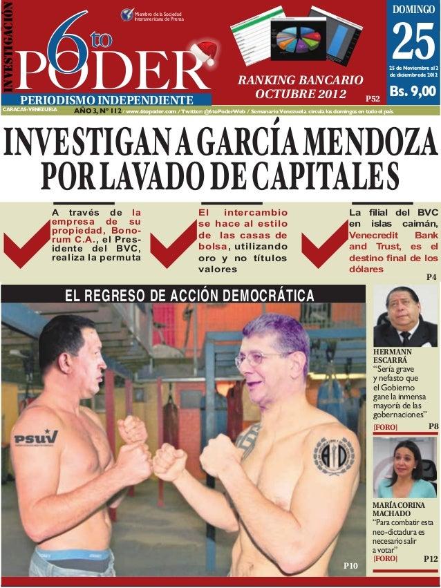 6INVESTIGACIóN                                        Caracas, 25 de noviembre al 2 de diciembre de 2012                  ...