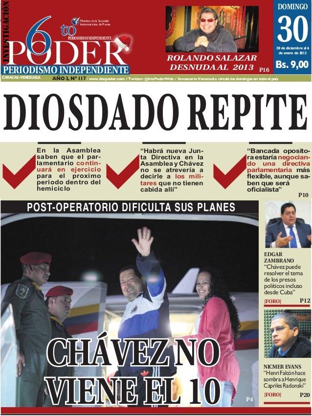 INVESTIGACIóN                                           Caracas, 30 de diciembre al 6 de enero de 2013                    ...