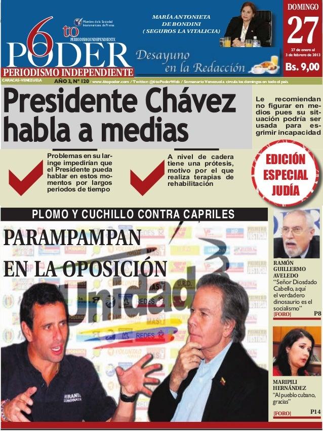 Caracas, 27 de enero al 3 de febrero de 2013                                                                              ...