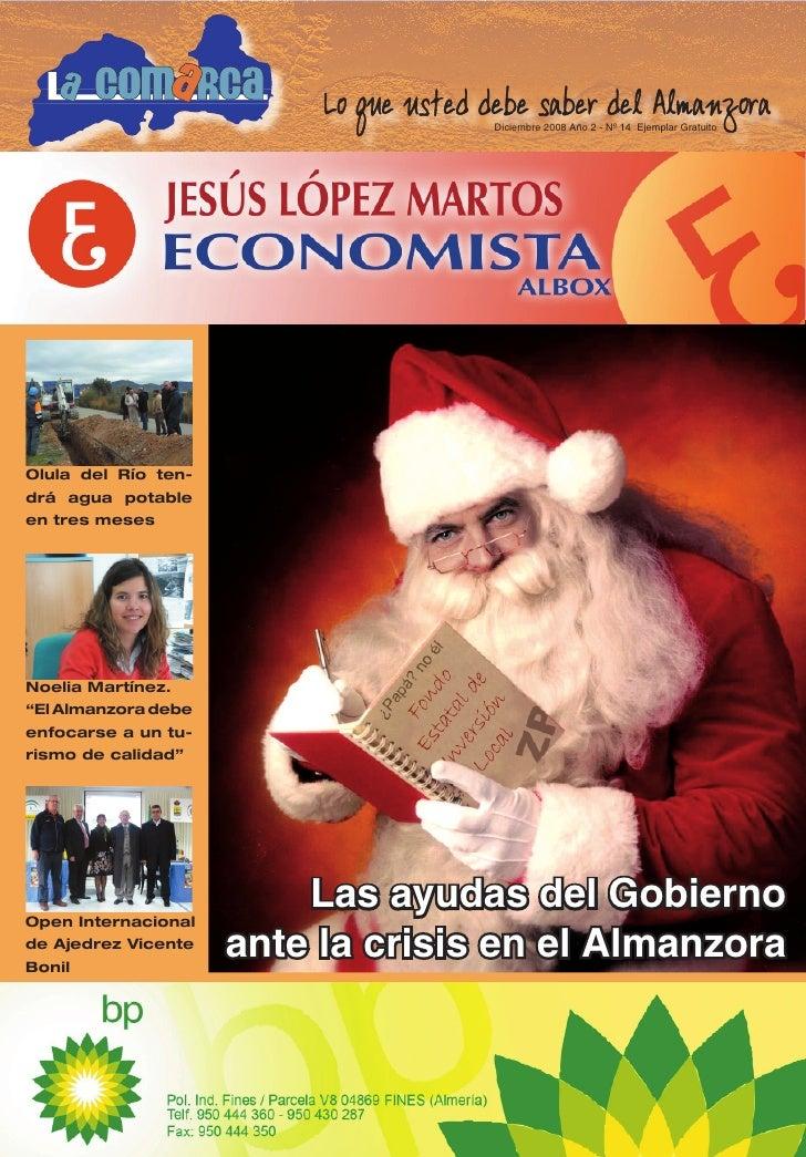 1                                        Diciembre 2008 Año 2 - Nº 14 Ejemplar Gratuito     Olula del Río ten- drá agua po...