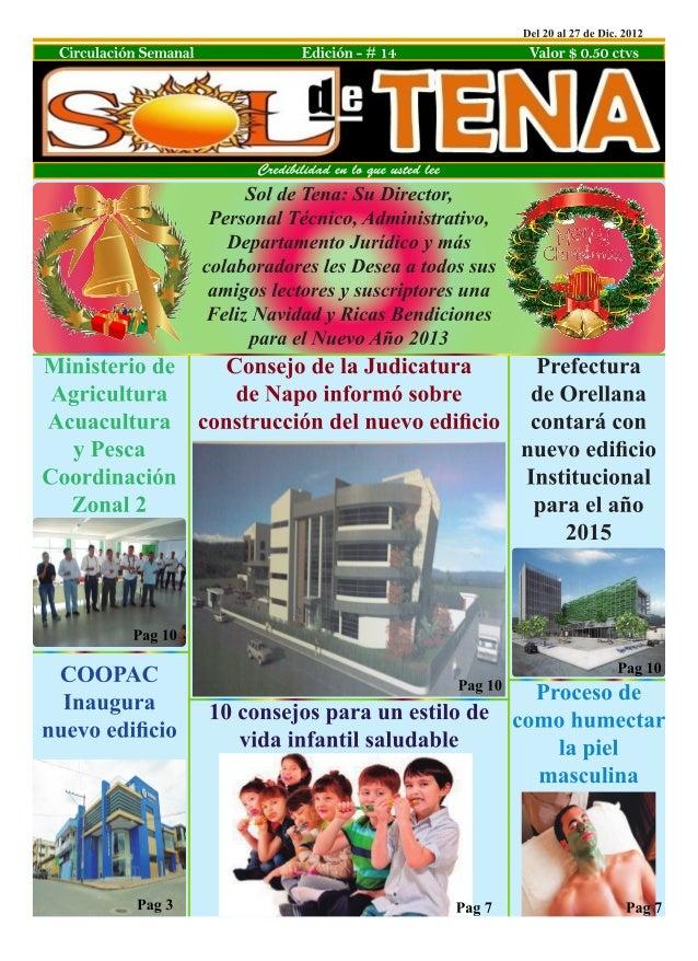Credibilidad en lo que usted lee                                        Edición 14     2      soldetena2012@live.comsoldet...