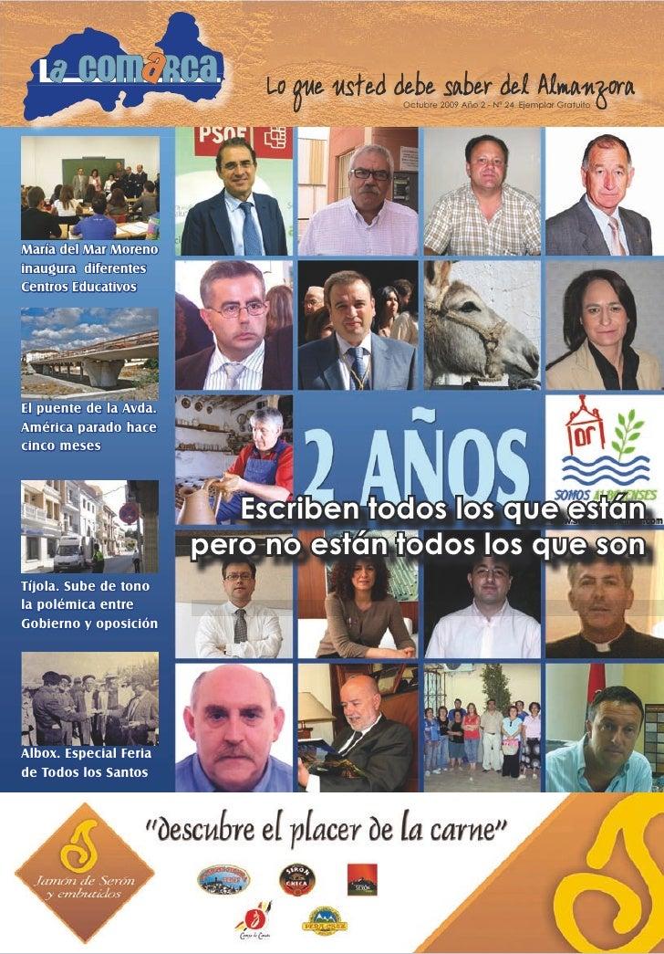 1                                           Octubre 2009 Año 2 - Nº 24 Ejemplar Gratuito     María del Mar Moreno inaugura...