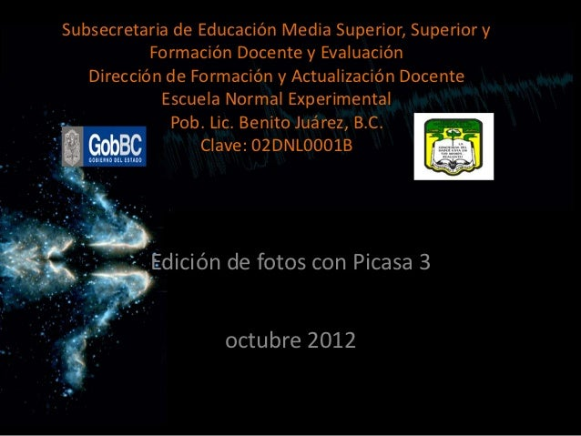 Subsecretaria de Educación Media Superior, Superior y           Formación Docente y Evaluación   Dirección de Formación y ...