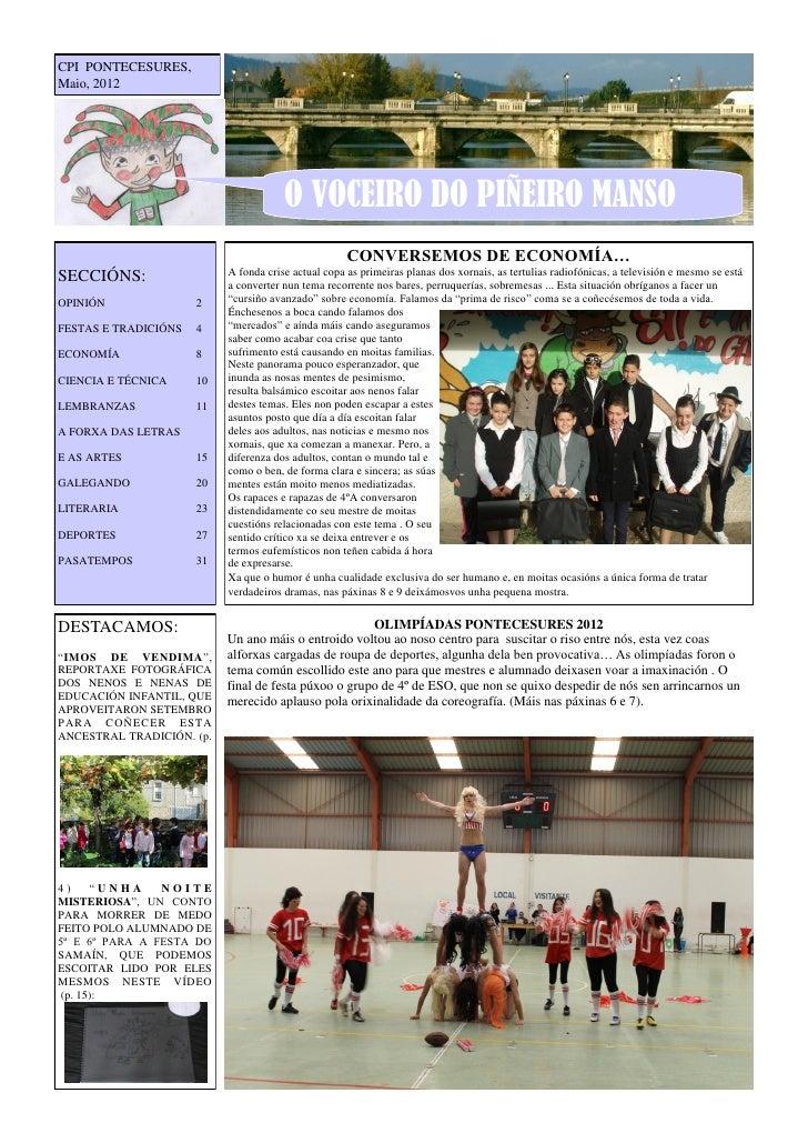 CPI PONTECESURES,Maio, 2012                                       O VOCEIRO DO PIÑEIRO MANSO                              ...