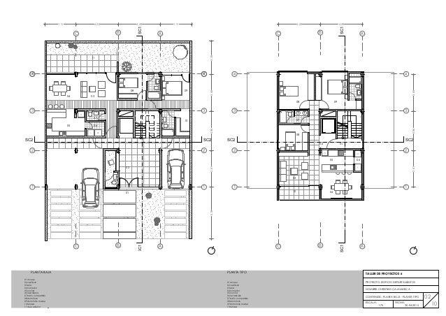 Edificio de vivienda multifamiliar 4 plantas for Plantas de viviendas