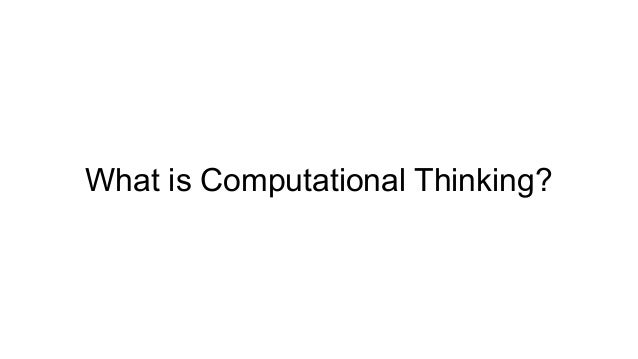 """""""CT is the process of recognizing aspects of computation in the world that surrounds us and applying tools and techniques ..."""