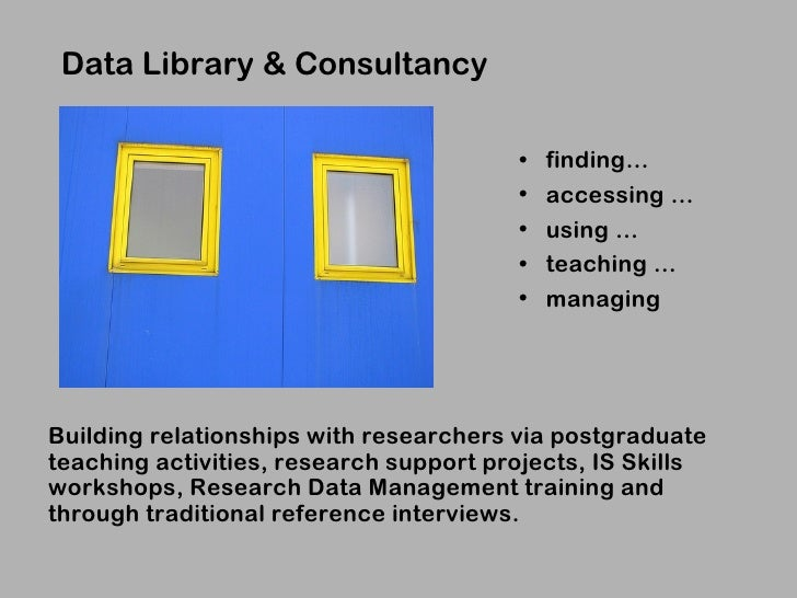 Data Library & Consultancy                                        •   finding…                                        •   ...