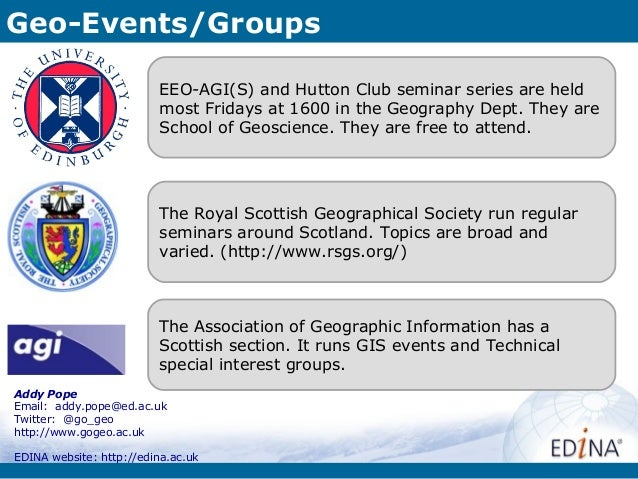 Geo-Events/Groups                          EEO-AGI(S) and Hutton Club seminar series are held                          mos...