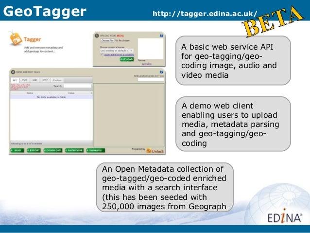 GeoTagger               http://tagger.edina.ac.uk/                               A basic web service API                  ...