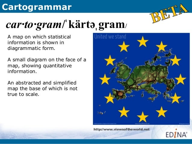 Cartogrammarcar·to·gram/ˈ kärtəˌ gram/A map on which statisticalinformation is shown indiagrammatic form.A small diagram o...