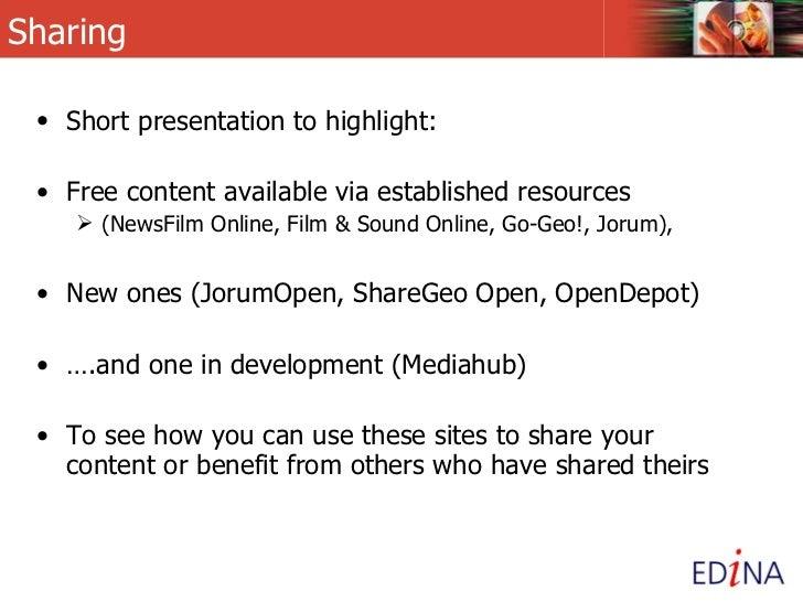 EDINA Sharing Content Slide 2