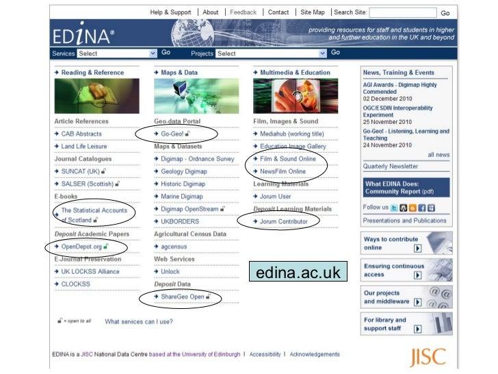EDINA Sharing Content Slide 3