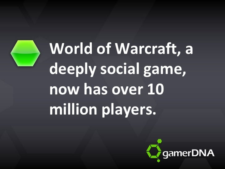 World of Warcraft, a deeply social game, now has over 10 million players.