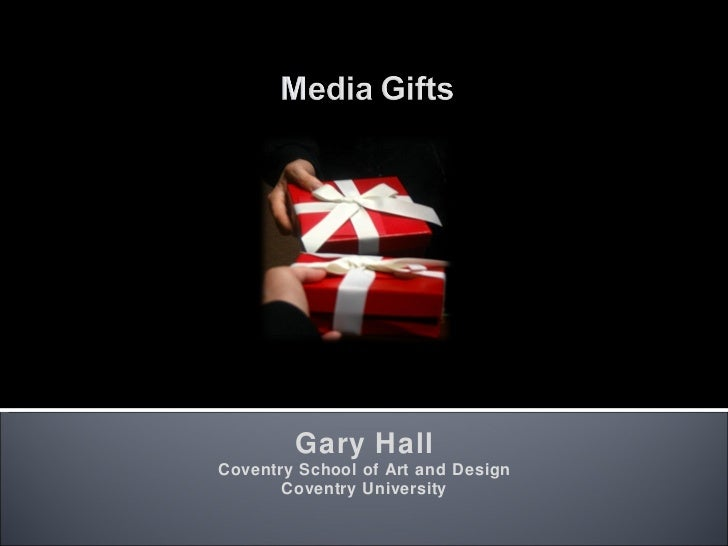 Gary Hall Coventry School of Art and Design Coventry University