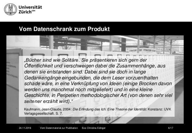 Edinger Vom Datenmaterial Zur Publikation  Wissenschaftliches Schreib U2026