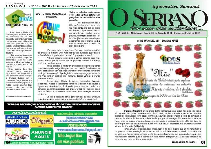 - Nº 55 – ANO II - Alcântaras, 07 de Maio de 2011                                                                         ...
