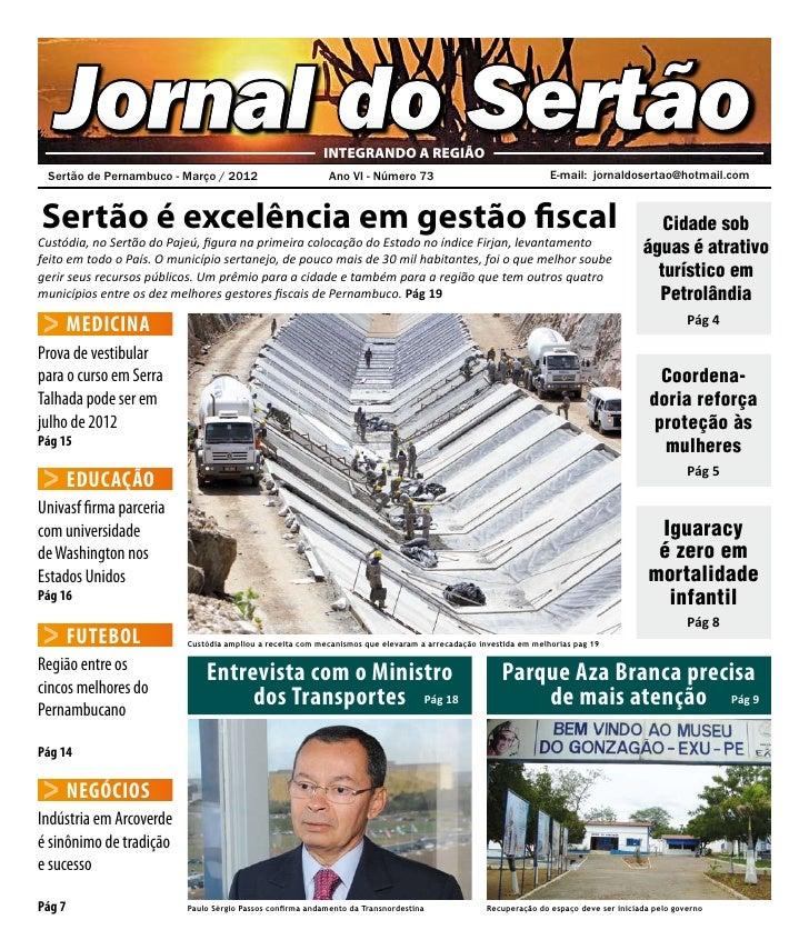 Jornal do Sertão                                       INTEGRANDO A REGIÃO Sertão de Pernambuco - Março / 2012           ...