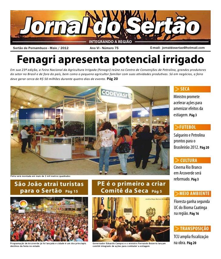 Jornal do Sertão                                              INTEGRANDO A REGIÃO  Sertão de Pernambuco - Maio / 2012    ...