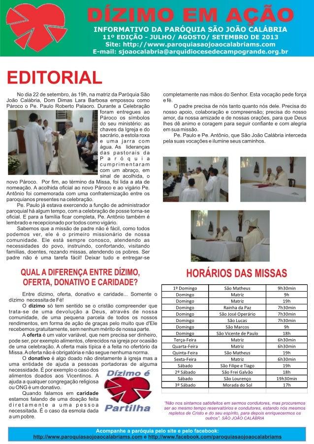 Edição julho agosto-setembro 2013