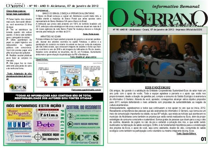 Edição nº 90 informativo semanal o serrano   completo