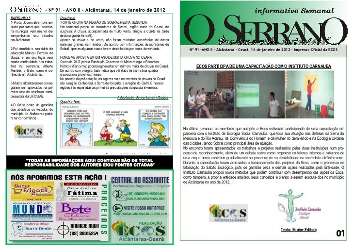 Edição nº 91 informativo serrano
