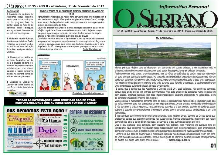 Edição nº 95 informativo semanal o serrano