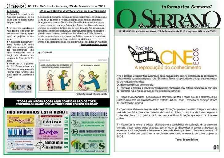 Edição nº 97 informativo semanal o serrano