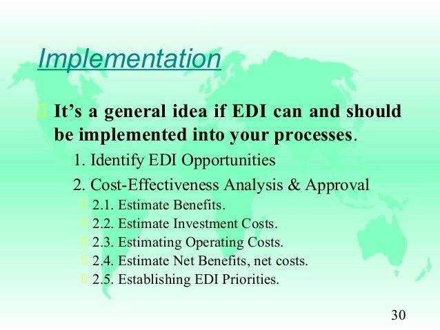 Edi cost vs benefit | Coursework Example - bluemoonadv com