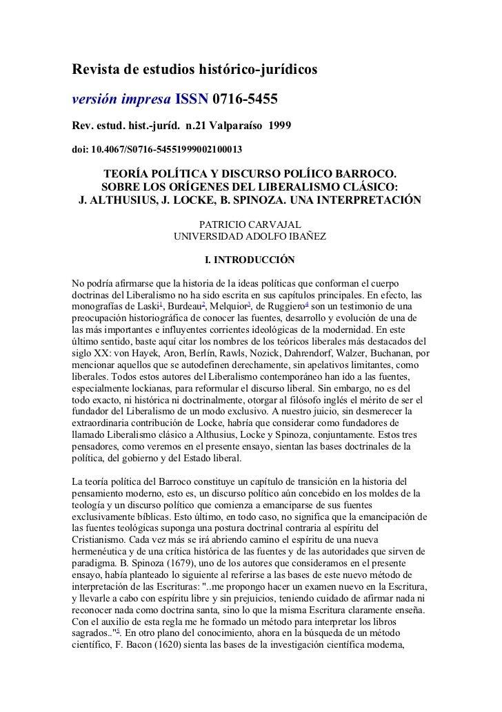 Revista de estudios histórico-jurídicosversión impresa ISSN 0716-5455Rev. estud. hist.-juríd. n.21 Valparaíso 1999doi: 10....