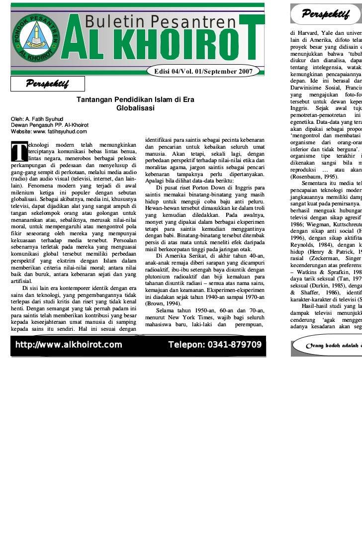 BULETIN AL KHOIROT Edisi 04/Vol. 01/September/2007                                                           BULETIN AL KH...