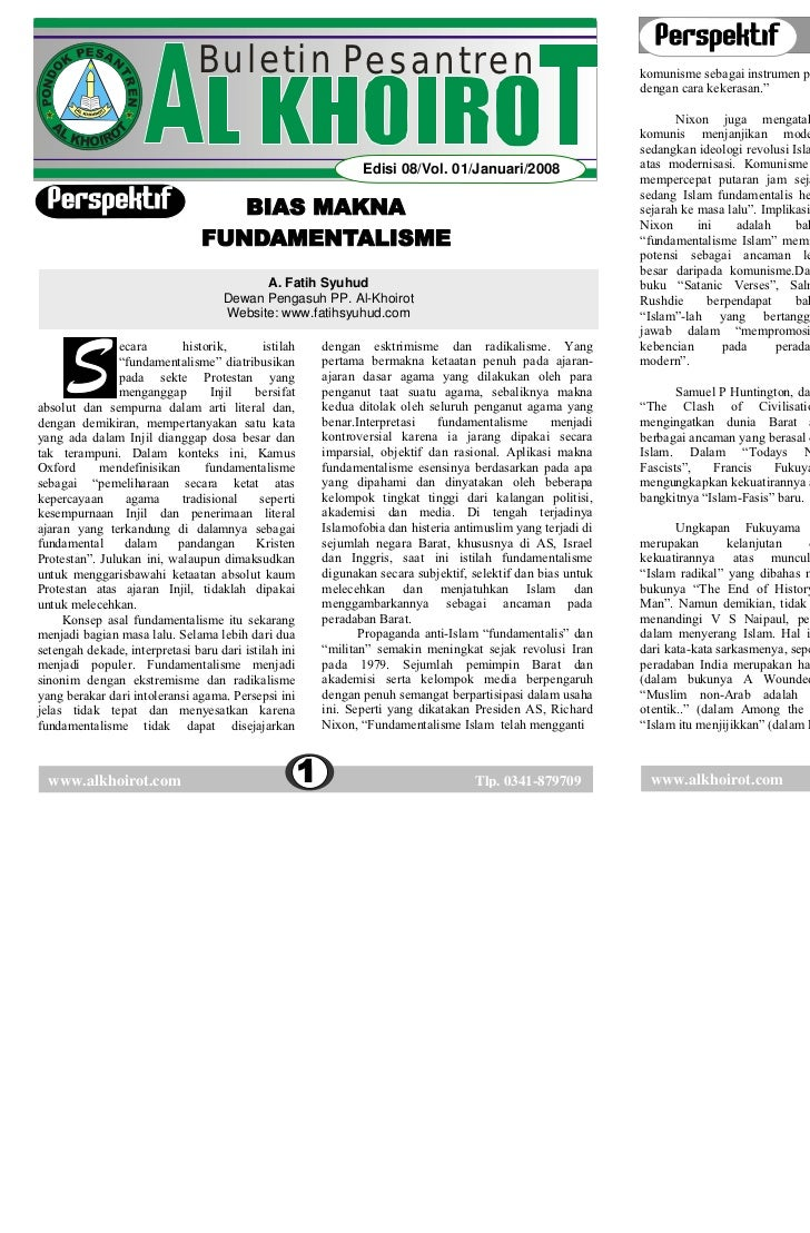 BULETIN AL KHOIROT 08/Vol. 01/Januari/2008                                                                BULETIN AL KHOIR...