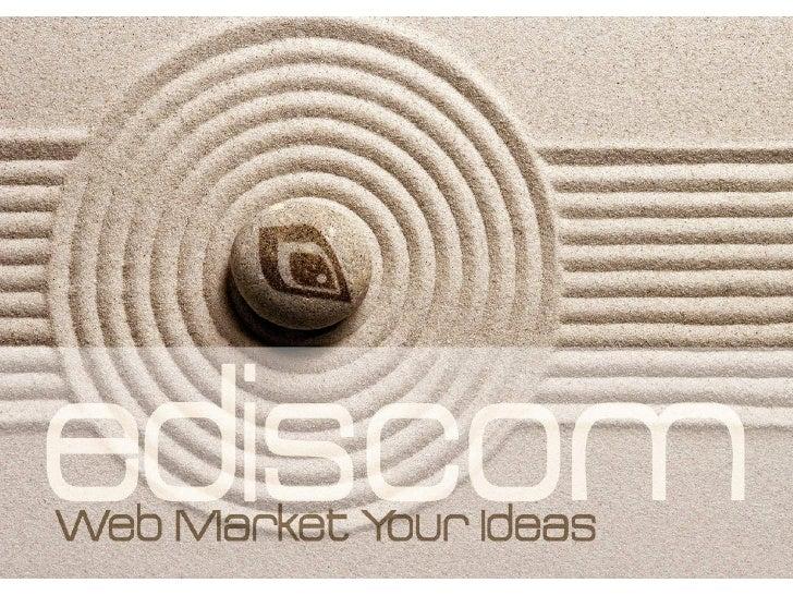 Ediscom S.p.A. è una delle prime agenzie in Italia specializzata nell'offerta di Soluzioniintegrate di Web Marketing.Reali...