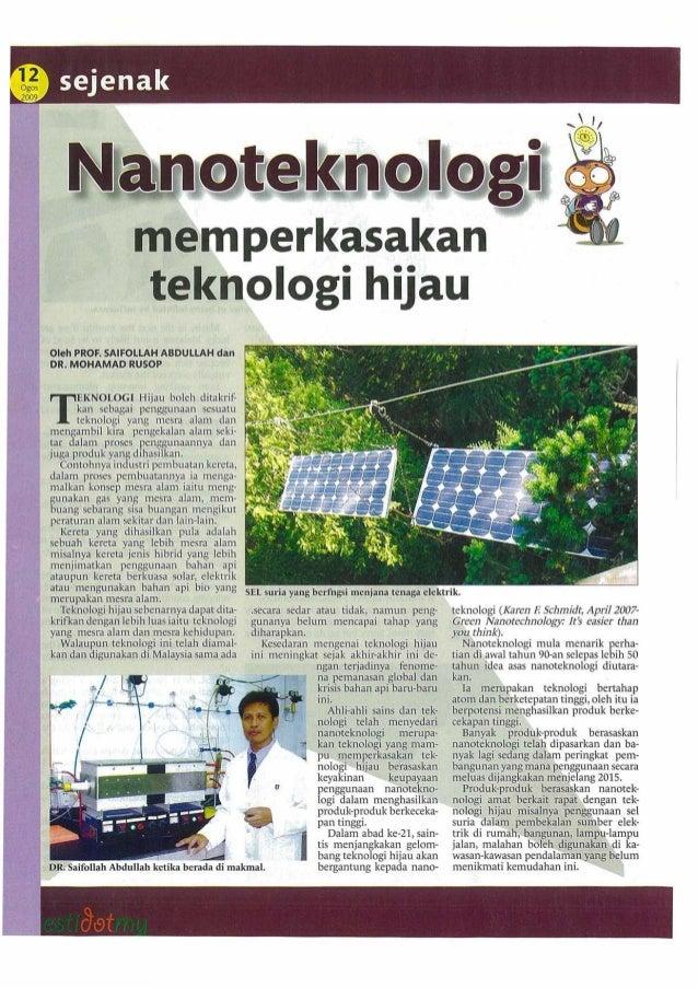 Kelebihan Teknologi Hijau